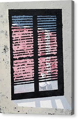 Cat N Window Canvas Print