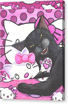 Cat Nap Canvas Print by Catherine G McElroy