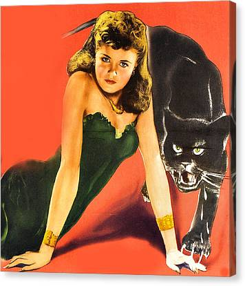 Jack Kent Canvas Print - Cat People Detail by Studio Release