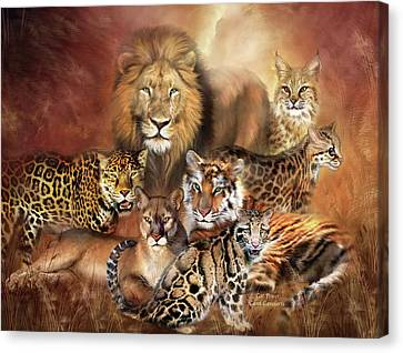 Lions Canvas Print - Cat Power by Carol Cavalaris