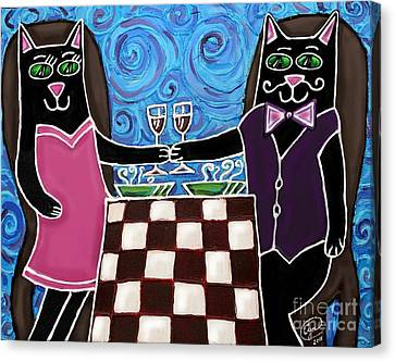 Cat Romance Canvas Print by Cynthia Snyder