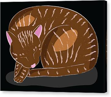 Cat Canvas Print by Sara Ponte