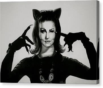 Cat Woman Canvas Print by Michelle Weadock