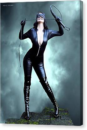 Feline Fatale On The Edge Canvas Print