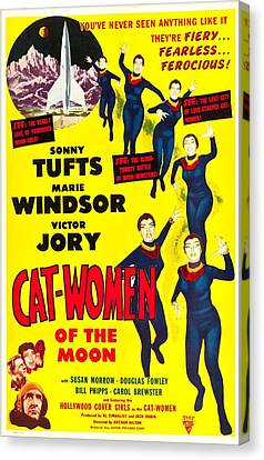 Cat-women Of The Moon, Us Poster, 1953 Canvas Print by Everett