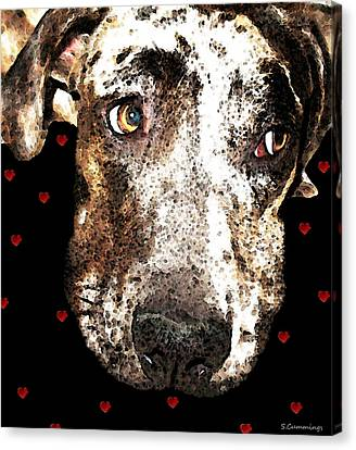 Catahoula Leopard Dog - Lover Canvas Print by Sharon Cummings