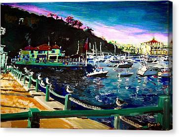 Catalina Island 1 Canvas Print by Rom Galicia