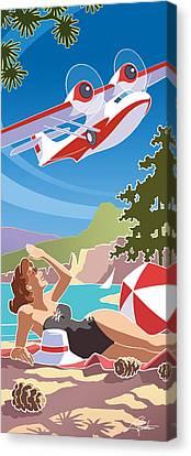 Catalina, Mid Century Travel Canvas Print