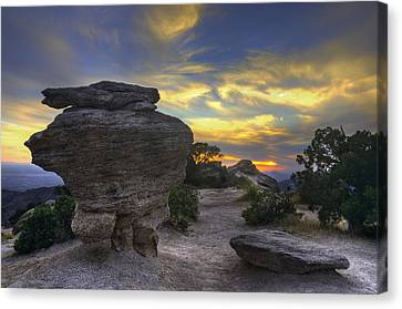 Catalina Mountains Sunset Near Tucson Arizona Canvas Print by Dave Dilli