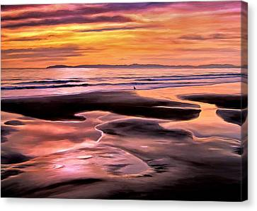 Catalina Sunset Canvas Print by Michael Pickett