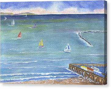 Catalina To Redondo Canvas Print by Jamie Frier