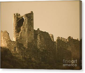 Catapult At Lastours  Canvas Print by France  Art