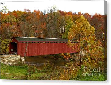 Canvas Print featuring the photograph Cataract Bridge by Jim McCain