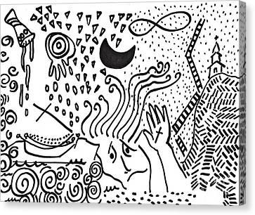 Catastrophe Canvas Print by Sarah Loft