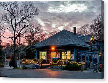 Cataumet Post Office Dressed For The Holidays Canvas Print