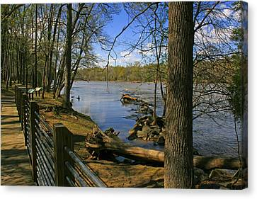 Canvas Print featuring the photograph Catawba River Walk by Andy Lawless