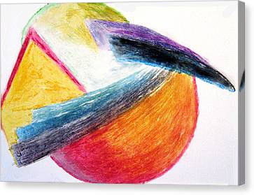 Canvas Print featuring the drawing Catch 22 - The Chicken Or The Egg by Sam Shacked