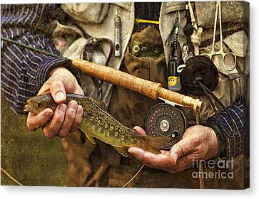 Catch And Release - D001102-b Canvas Print