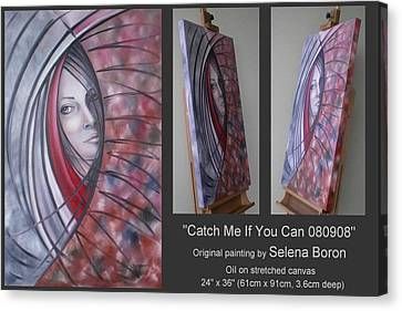 Canvas Print featuring the painting Catch Me If You Can 080908 by Selena Boron