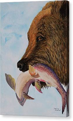 Catch Of The Day Canvas Print by Darice Machel McGuire