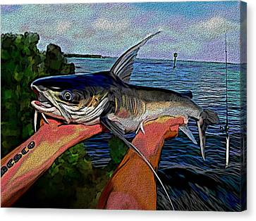 Catch Of The Day Canvas Print by Karen Sheltrown