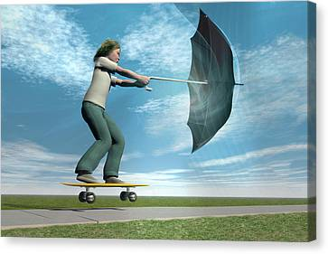 Catch The Wind Canvas Print by Carol & Mike Werner
