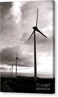 Wind Turbines Canvas Print - Catch The Wind by Olivier Le Queinec