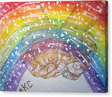 Catching A Rainbbow Canvas Print by Kathy Marrs Chandler