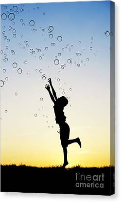 Catching Bubbles Canvas Print