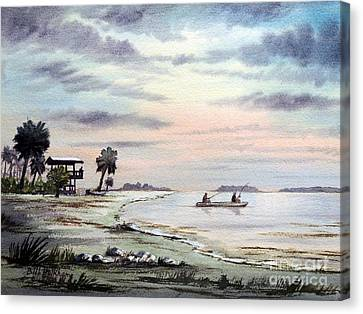 Speckled Trout Canvas Print - Catching The Sunrise - Hagens Cove by Bill Holkham