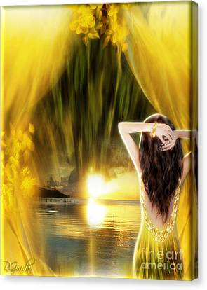 Canvas Print featuring the digital art Catching The Sunset - Fantasy Art By Giada Rossi by Giada Rossi