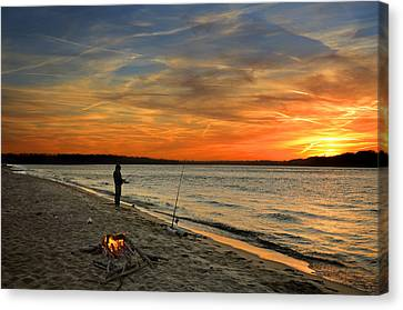 Catching The Sunset Canvas Print by Steven  Michael