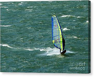 Catching Wind And Surf Canvas Print