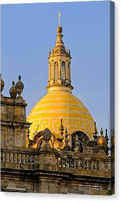 Catedral De Guadalajara Canvas Print by David Perry Lawrence