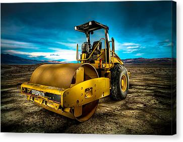 Caterpillar Cat Roller Cs563e Canvas Print