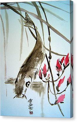 Catfish Canvas Print by Alena Samsonov