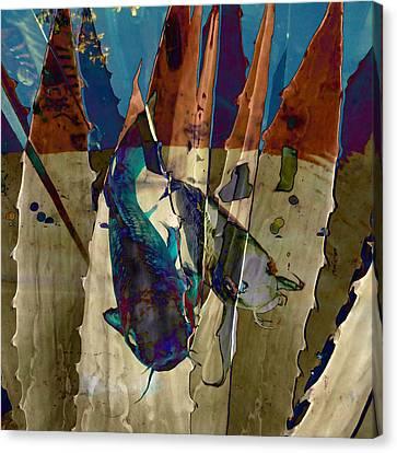 Catfish In The Desert Canvas Print by Patricia Januszkiewicz