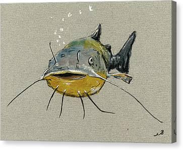 Catfish Canvas Print - Catfish by Juan  Bosco