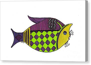 Don't Be A Catfish Canvas Print by Nancy Mergybrower