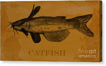 Catfish Plaque Canvas Print by R Kyllo