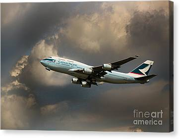 Cathay Pacific B-747 Canvas Print by Rene Triay Photography