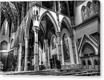 Canvas Print featuring the photograph Cathedral Arches by Linda Edgecomb