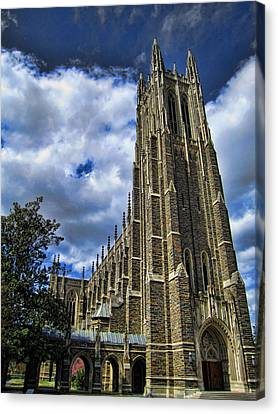 Cathedral At Duke University Canvas Print by James  Bond