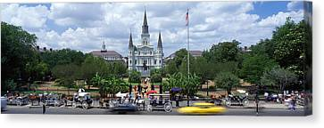 St.louis Cathedral Canvas Print - Cathedral At The Roadside, St. Louis by Panoramic Images