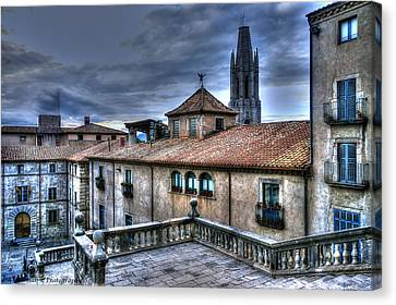 Cathedral Banisters Canvas Print by Isaac Silman