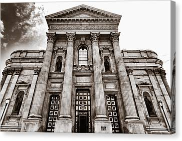 Canvas Print featuring the photograph Cathedral Basilica Of Saints Peter And Paul - Philadelphia by Photography  By Sai