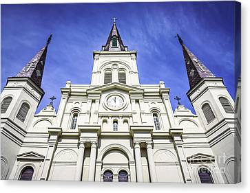 St.louis Cathedral Canvas Print - Cathedral-basilica Of St. Louis King Of France by Paul Velgos