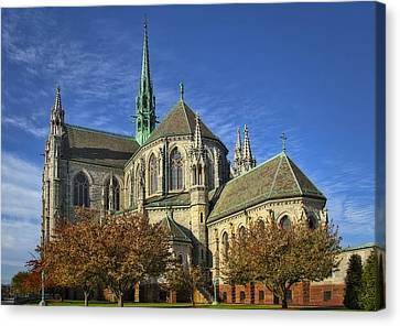 Cathedral Basilica Of The Sacred Heart Canvas Print by Susan Candelario