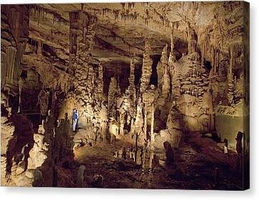 Cathedral Caverns In Woodville Canvas Print by Carol M Highsmith