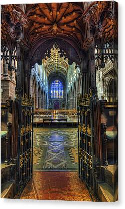 Cathedral Choir Gates Canvas Print by Ian Mitchell